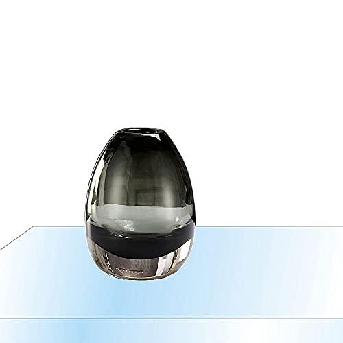 Jarrón Cristal, jarrones Decorativos Cristal floreros jarrones Decorativos Modernos Altos Jarrón De Flores con Base De...