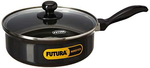 Hawkins Futura Non-Stick Saute' Curry Pan with Glass Lid, 2 litres