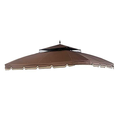 Coen A111010500 Original Replacement Canopy for Bay Window Gazebo (10X12 Ft) L-GZ329PST-2 Sold at BigLots, Ginger Snap