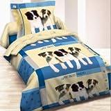 LINGE USINE Housse de Couette My Best Friend Chien 140 x 200 +1 Taie Coton