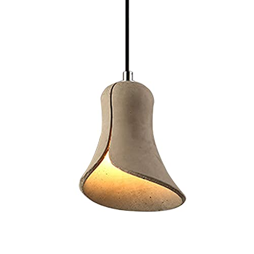 Lámpara Colgante De Cemento, E27 Iluminación Decorativa Retro Industrial Simple con Alambre Ajustable Loft Lámpara Colgante para Comedor Isla Corredor Café Ba, B Hogar