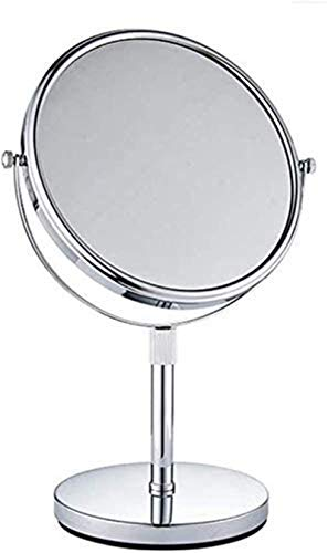 HCMNME Waterproof Illuminated LED Bathroom Mirror, Bathroom Vanity Mirror Wall Mounted Folding Mirror Telescopic Mirror Desktop Beauty Mirror Shrink Magnifying Glass
