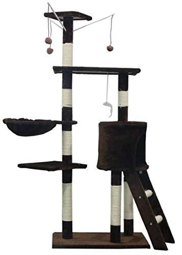 FENIXSHOP24 TIRAGRAFFI für Katze 140 cm mit Seil aus Silikon und Plüsch - Bezug resistent gegen Usura und Graffi - Katzenspiel