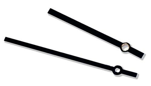 PUREgrey 1 Paar Zeiger für Eurolochung für Uhrwerke 838/817 Wanduhren 110/85 mm
