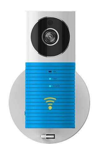 Plater Smart Baby-Monitor, WLAN, Video, Sicherheit für Zuhause, Kamera mit P2P-Nachtsicht, Video-Aufzeichnung, 2-Wege, Audio, Bewegungsmelder, unterstützt TF-Karte, für iPhone, iPad, Android Smartphone–Blau