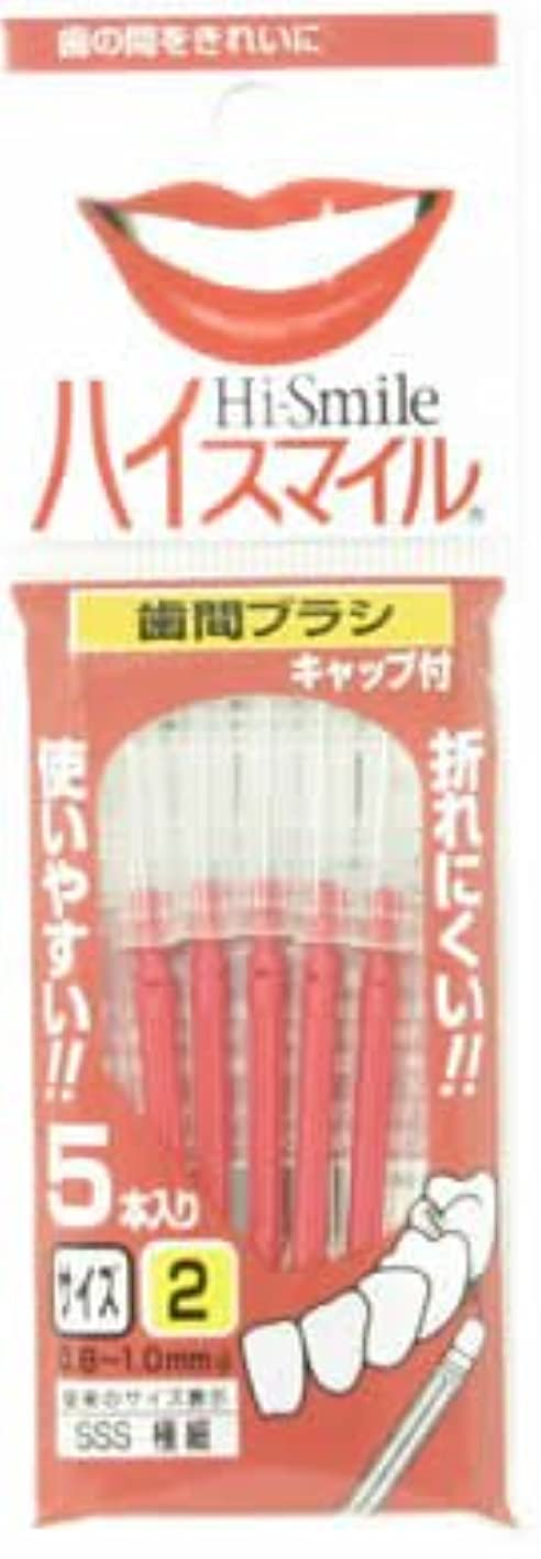 検出するポケット投げ捨てるハイスマイル歯間ブラシ サイズ2極細 5本入レッド