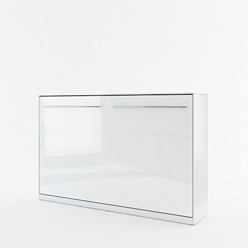BIM Furniture Concept PRO - Cama plegable de pared horizontal con armario, armario con cama plegable integrada, cama funcional