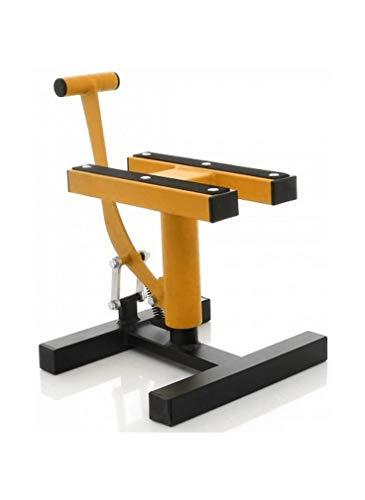 Cruizer - Caballete central para mantenimiento de motocicletas de cross o enduro, carga máxima 200 kg amarillo