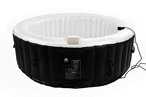 All Seasons Gazebos and Hot Tubs 2-4 Person 130 Air Jet Hot Tub / Spa (2-4 Person Black and White)