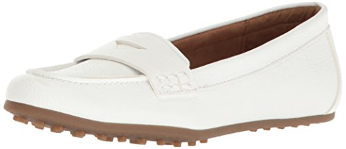 Aerosoles Women's Drive in Penny Loafer, White, 7.5 M US