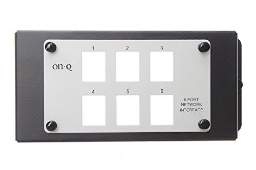 On-Q Legrand AC1001 Un-Populated 6 Port Modular Network Interface Patch Panel