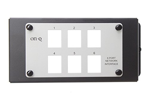 On-Q Legrand AC1001 Un-Populated 6 Port Modular Network Interface...