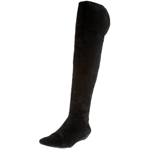 Corso Como Women's Duluth Over The Knee Flat Boot,Black,10.5 M US