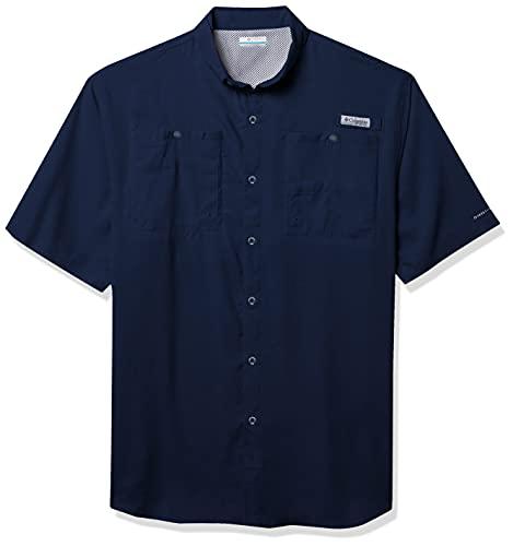 Columbia Men's Tamiami II Short Sleeve Shirt, Large/Tall, Collegiate Navy
