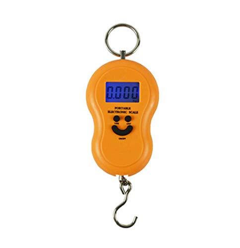 Escala electrónica portátil Pantalla LCD de Alta precisión de 45 kg Pantalla de Cuatro dígitos Mini Escala-Amarillo
