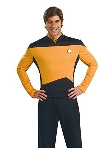 Star Trek The Next Generation Deluxe Gold Shirt, Adult Medium Costume