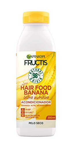 Garnier Fructis Hair Food Acondicionador Nutritivo de Banana para Pelo Seco - 350 ml