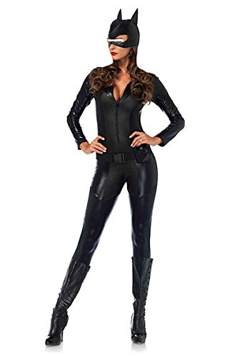 VersusModa Cat Woman Donna Vestito Carnevale Maschera Tuta Similpelle Cat Woman Cosplay Costume CATWOM2 (M, Tuta+Maschera - Overall+HeadMask)