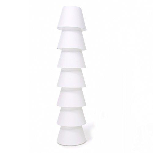 Set Up Shades 7 staande lamp, wit kunststof klein