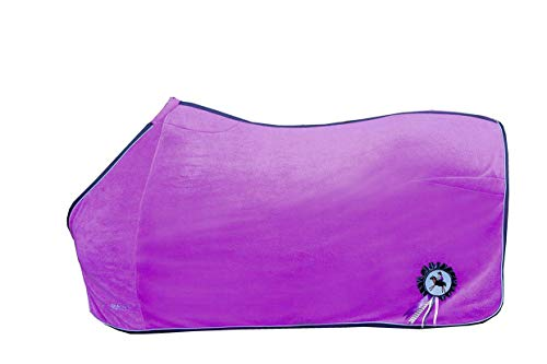 HKM Abschwitzdecke -Funny Horses-, violett, 95
