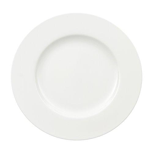 Villeroy & Boch Royal Eetbord, Rond Eetbord van Hoogwaardig Premium Bone Porselein, Wit, Vaatwasserbestendig, 27 Cm