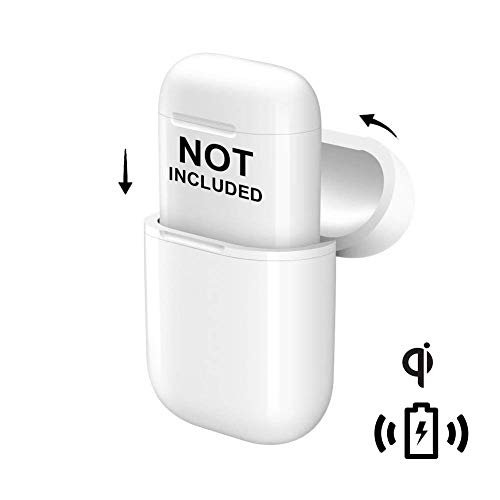 NeotrixQI A5-W Wireless Charging Case Protective Cover Compatible for Apple AirPods Case and Any Qi Wireless Charger - White, 1-Pack
