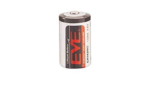 Eva ER14250 Lithium Thionyl Cloruro Batería 1/2AA 3,6V 1200mAh Herstellungsdatum Enero 2018