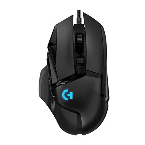 Design ergon?mico G502 mouse mecanico para jogos RGB Mouse para jogos preto