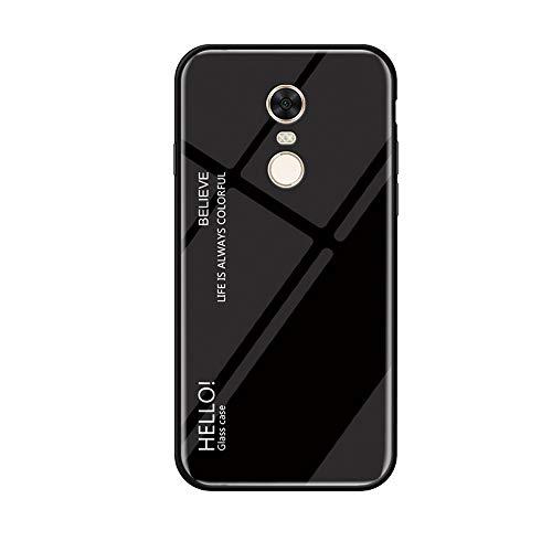 MadBee Funda para Xiaomi Redmi Note 4X [con Protector de Pantalla],9H Cristal Templado [Mármol] [Resistente a los Arañazos] + Borde de TPU Silicona Suave Fundas Case Cover (Negro)