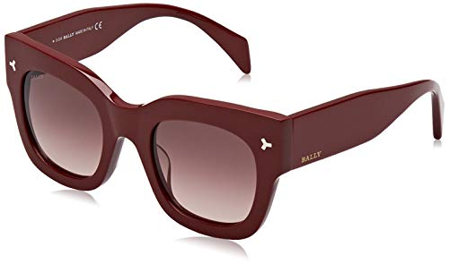 BALLY Damen BY0006-H Sonnenbrille, Rot (Shiny Red/Gradient Brown), 50