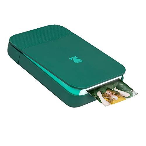 KODAK Smile Fotodrucker für Smartphone (IOS und Android) - Tintenloser Sofortdrucker, Bluetooth, 5 x 7,6 cm Ausdrucke, Integrierter Akku - Grün