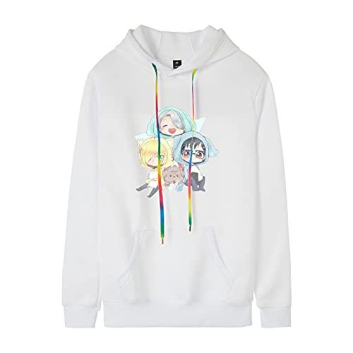 N\C My Hero Academia Sudadera con CapuchaOtoño / Invierno Anime Impreso Suéter de Cuello Redondo Estilo de Pareja para Hombres y Mujeres Sudadera con Capucha de Moda Fresca XXL