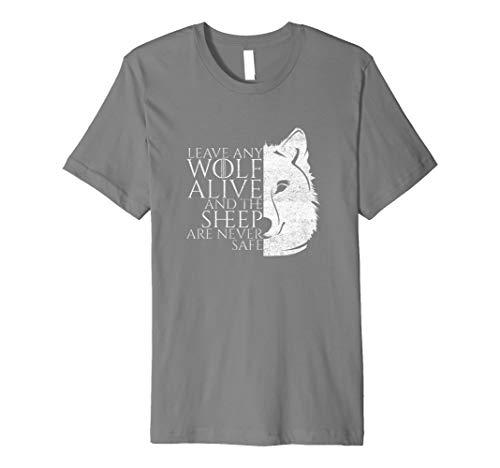 Lassen jeden Wolf Alive Schafe sind nie Sicher Wolf Lover T-Shirt