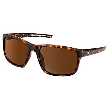 KastKing Toccoa Polarized Sport Sunglasses for Men and Women,Matte Demi Frame,Brown Lens