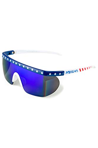 Say Can You See Sunglasses - Red, White, and Blue USA Patriotic Sunglasses for Guys
