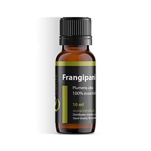 Frangipani 100% ätherisches Öl von Inevita | 10 ml | Wasserdampfdestillation von Blumen Plumeria Alba | Frisch & Rein | Herkunft Indien