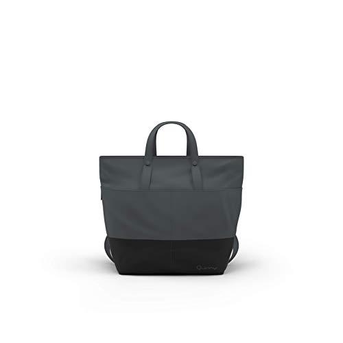 Quinny Wickelrucksack, Baby-tasche, Windel-tasche (auch als modische Wickeltasche tragbar, mit viel Platz und Zubehör inkl. Wickelauflage) grau