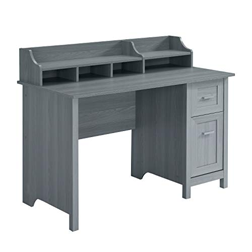 Techni Mobili Classic Office Storage Writing Desk, Grey