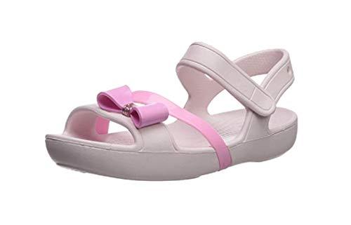 Crocs Lina Charm Sandal Flat, Barely Pink 4 M US Little Kid