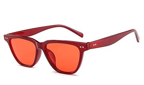 ShSnnwrl Gafas De Moda Gafas De Sol Gafas De Sol Cuadradas De Moda Hombres Mujeres Gafas De Sol De Conducción Retro Gafas Clásicas Uv400 C2Red