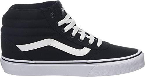 Vans Ward Hi Mujer, Zapatillas Altas, Negro (Canvas) Black/White 187, 38 EU