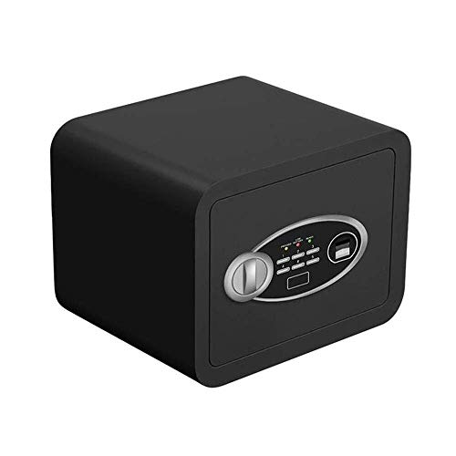 FMOGE Strong Safety Box High Security Digital Safe-Electronic Steel Safe,Cash Lock Box with Fingerprint Locking System-Protect Money,Jewelry,Passports-for Home,Business or Travel (Color : Black)