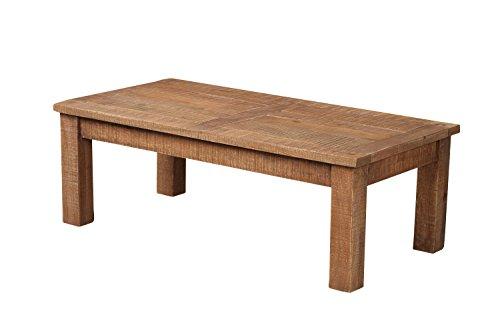 The Wood Times Couchtisch Massiv Vintage Look New Rustic Mangoholz, FSC-Zertifiziert, LxBxH 115x60x40 cm