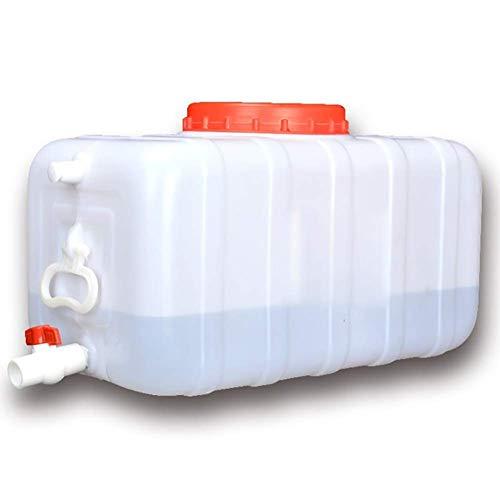 Layla Beauty Store 50L-200L Bote de Agua Grande con Engrosamiento Grifo del depósito de Agua de plástico portátil de Memoria Bucket Rectangular Industrial Química Barril,200L