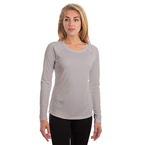 Vapor Apparel Damen Atmungsaktives UPF 50+ UV Sonnenschutz Langarm Funktions T-Shirt M Perlgrau