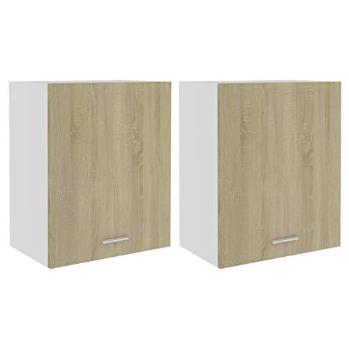 vidaXL 2X Armarios de Cocina Muebles Mobiliario Duradero Mesa Trabajo Almacenamiento Cuenco...