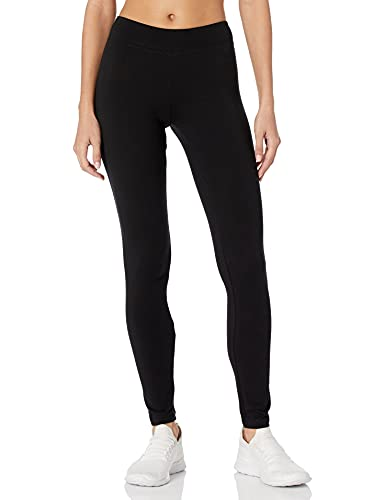 Hanes Women's Cotton Leggings Q71129 1 Pair, Black, Large