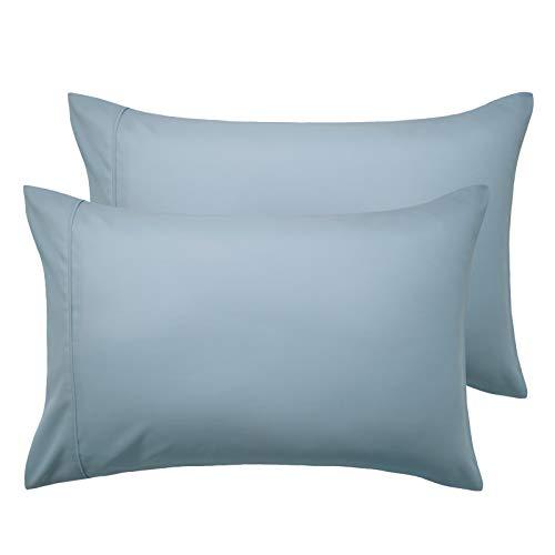 Bedsure Funda Almohada 70x40 cm de Microfibra - Juego de 2 Fundas Almohadas 40x70 Transpirable Suave Antiarrugas, Azul Grisáseo, sin Cremallera, 2 Unidades