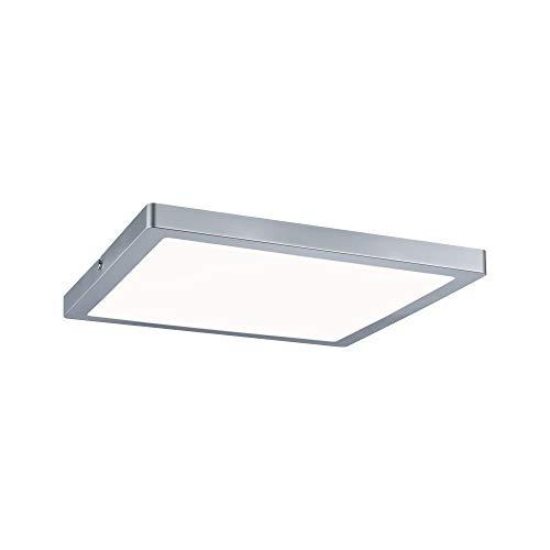 Paulmann 70936 LED Panel Atria eckig incl. 1x20 Watt Deckenlampe Chrom matt Deckenleuchte Kunststoff Wohnzimmerlampe 4000 K, 300 x 300 mm