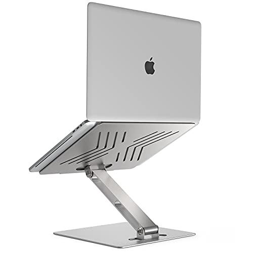 Laptop Ständer,Höhenverstellbarer Tragbar Notebook Staender Heat-Vent Aluminium Belüfteter Tablet Laptop Stand Kompatibel für 10-15,6 Zoll Notebook